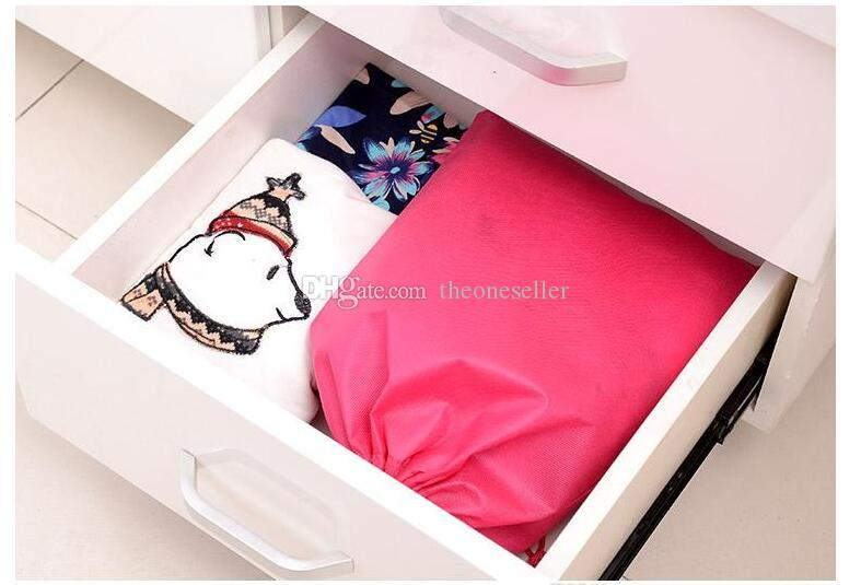DHL доставка оптом-100 шт. 40 см Hx30cm нетканый мешок с веревкой сумка для хранения несколько цветов для обуви / одежды пыли доказательство