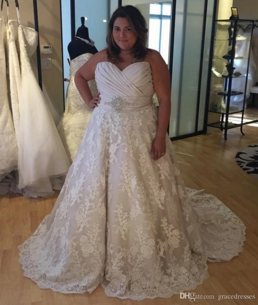 Plus size wedding dress ball gown ruched sweetheart empire for Plus size after wedding dress
