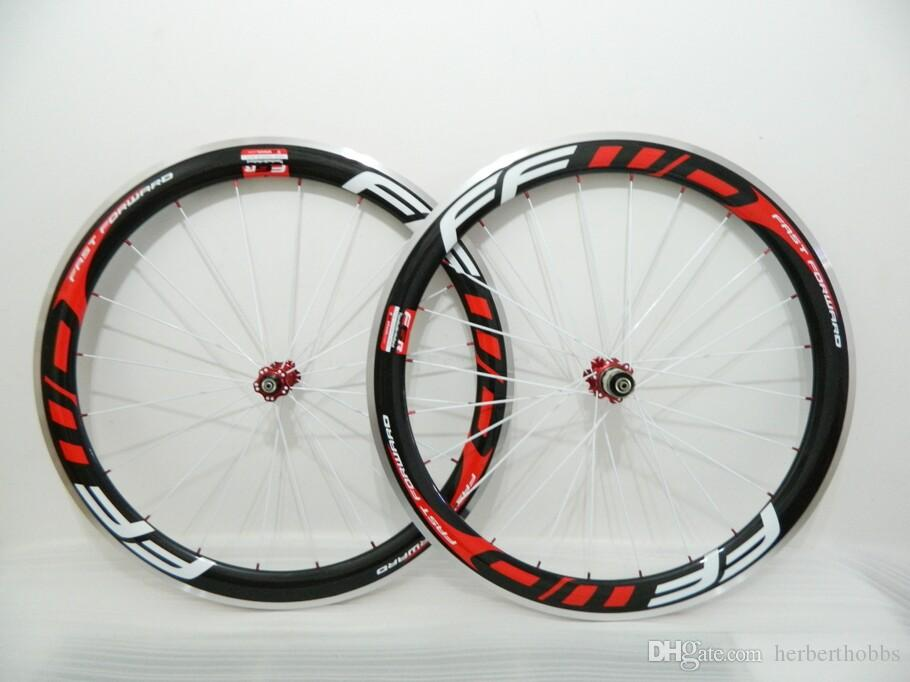 Weiß Speichen Ffwd Räder F5R 50mm Radsatz Gerade Pull Powerway R36 Carbon Naben Vollcarbon Rennrad Fahrrad Räder