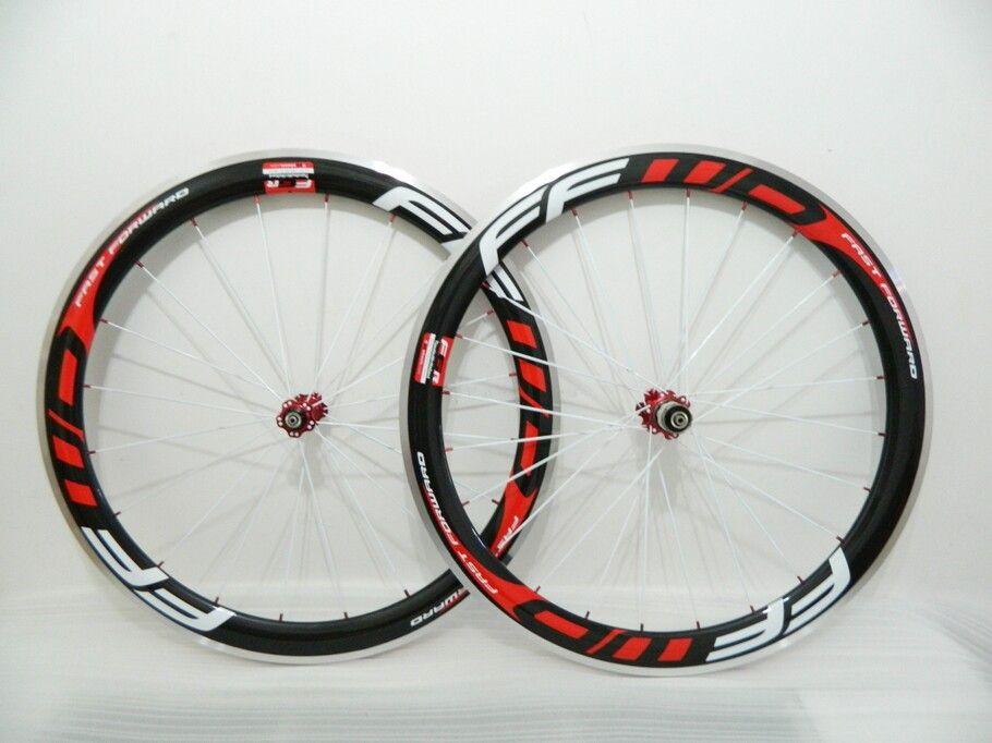 White Spokes Ffwd Wheels F5R 50mm Wheelset Straight Pull Powerway R36 Carbon Hubs Full Carbon Road Bicycle Bike Wheels