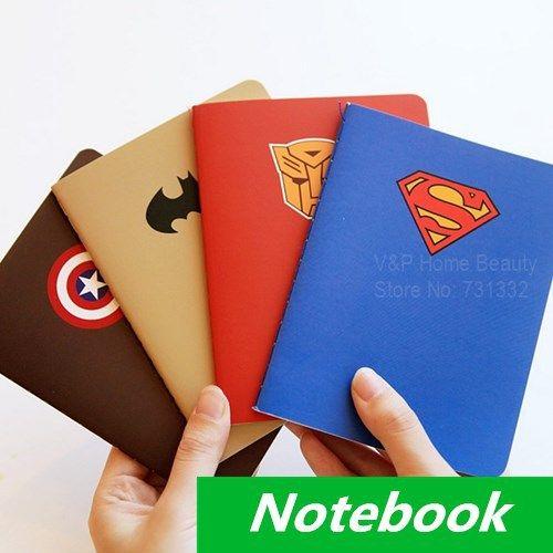 2018 hero theme notebook diary book notepad superman design kawaii