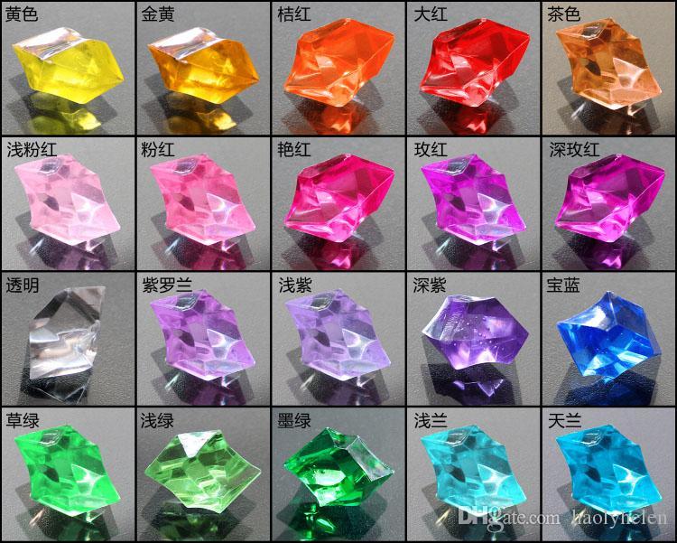 도매 6 팩 약 1100 조각 아크릴 얼음 결정 얼음 칩 돌 여러 가지 빛깔의 테이블 Scatters 꽃병 필러 맑은 레드 GreeFree 배송