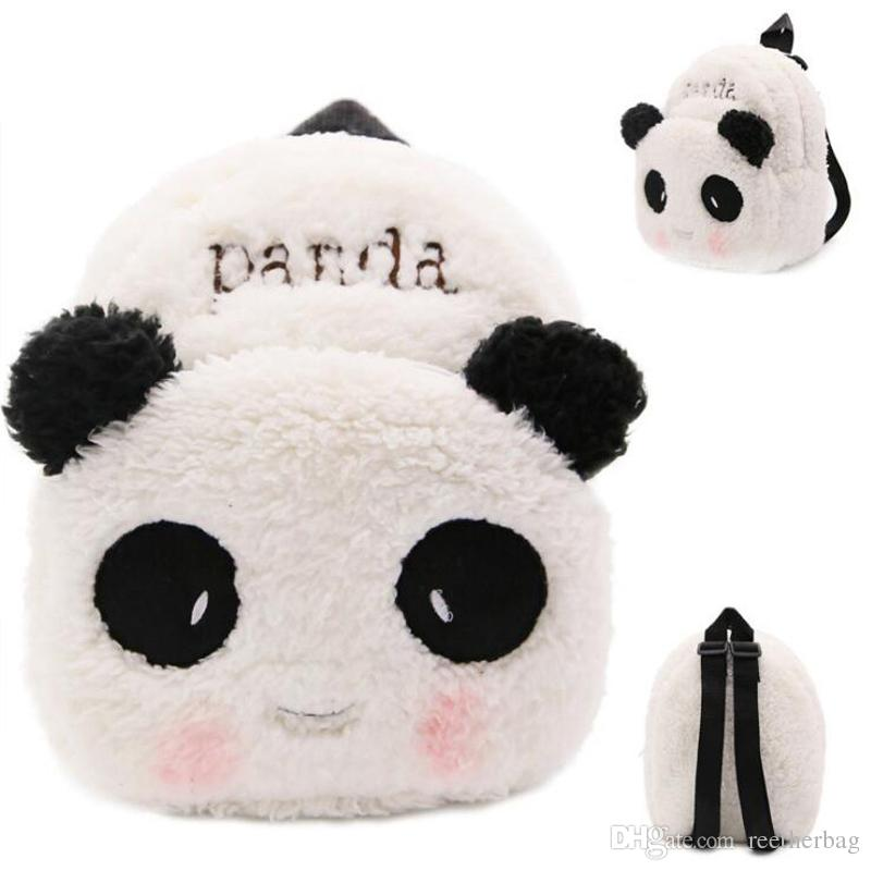 Cute Panda Baby Backpack Plush Lovely Cartoon Backpack Children Small  School Bag Kindergarten Kids Snacks Backpack Baby Bag Online with   13.09 Piece on ... 2f38635803e6d