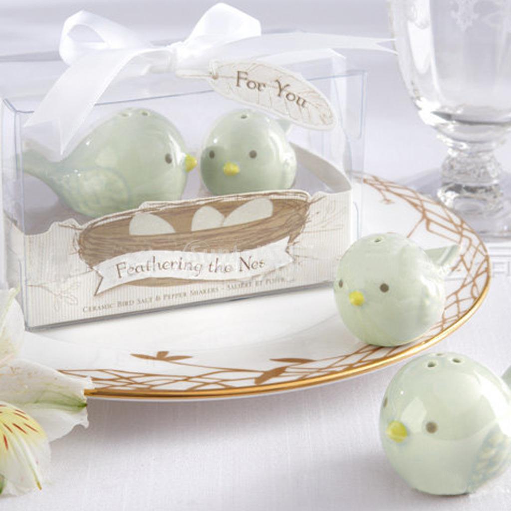 2018 Wedding Favors Love Birds Ceramic Salt Pepper Shakers =Herb ...