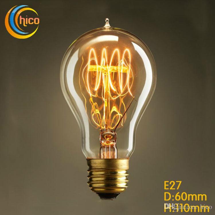 Led Filament Lampe De 40w Antique Feux Ampoule Artifice Incandescent Vintage Edison A19 Squirrel D E27 Carbone gYbf67y