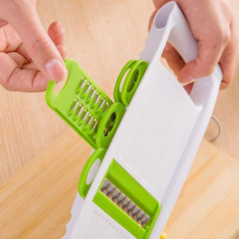 5 in 1 Multifunktions Kunststoff Gemüse Obst Aufschnittmaschinen Cutter Einstellbare Edelstahl Klingen ABS Peeler Reibe Slicer