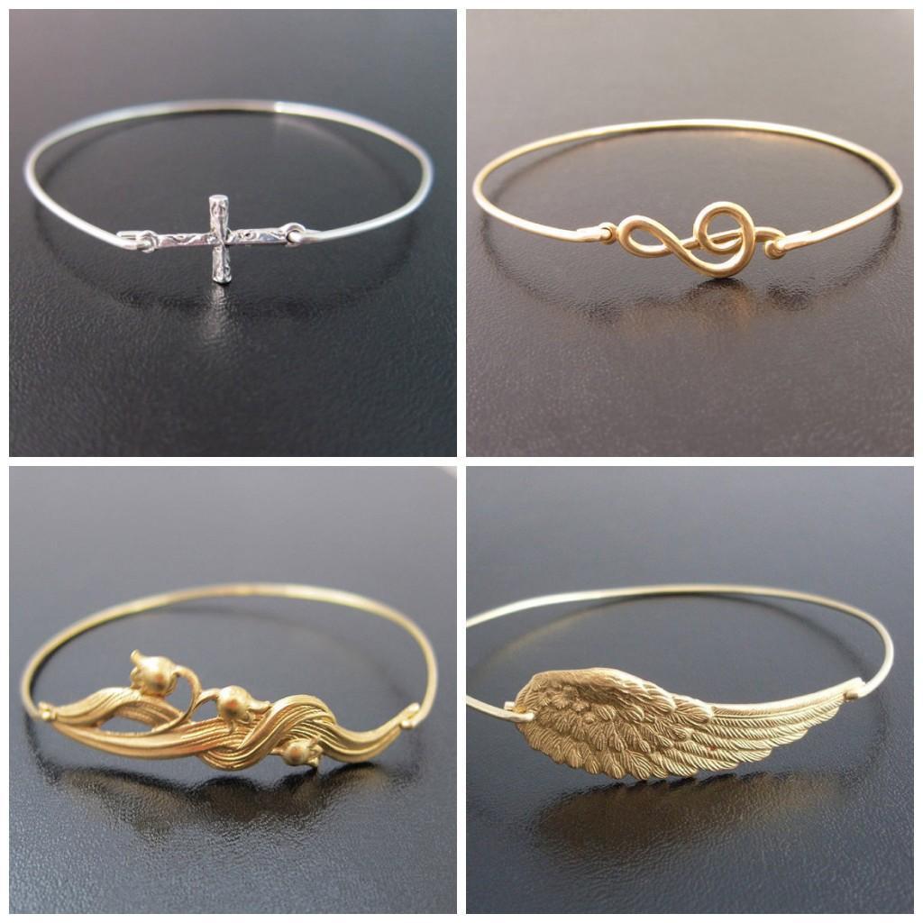Womens Mens Charms Bracelets Bangles Alloy Cross Flower Wings