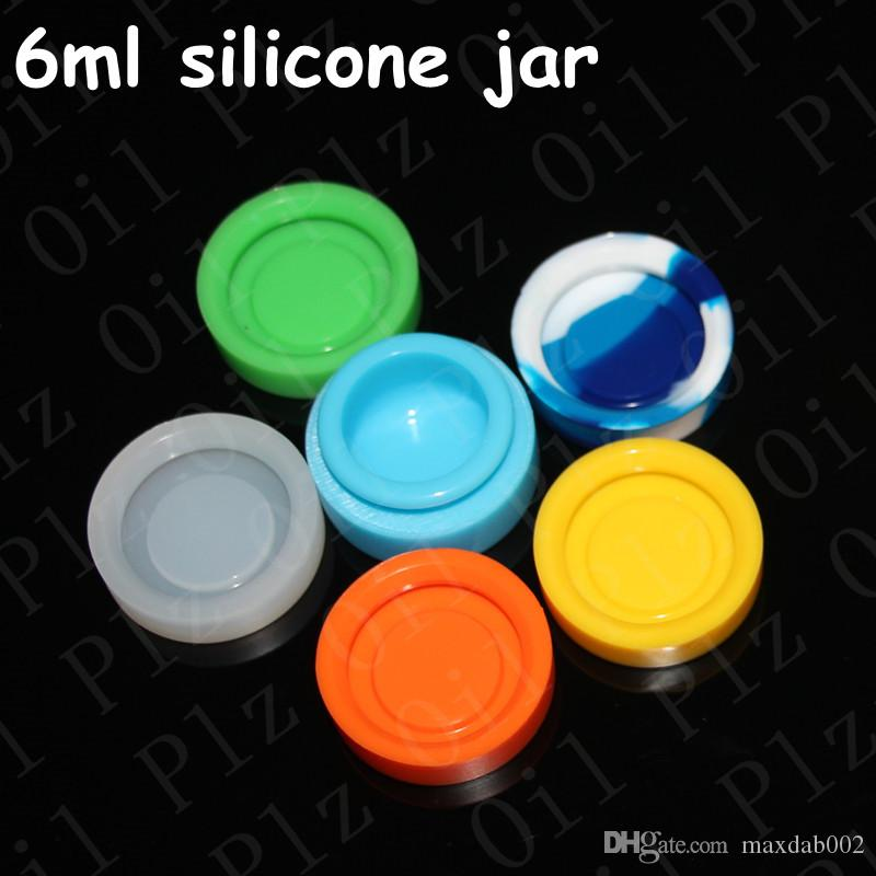 실리콘 항아리 왁스 컨테이너 6ml 실리콘 왁 스 비 스틱 실리콘 항아리 왁 스 기화기 오일 항아리 전자 담배 도매