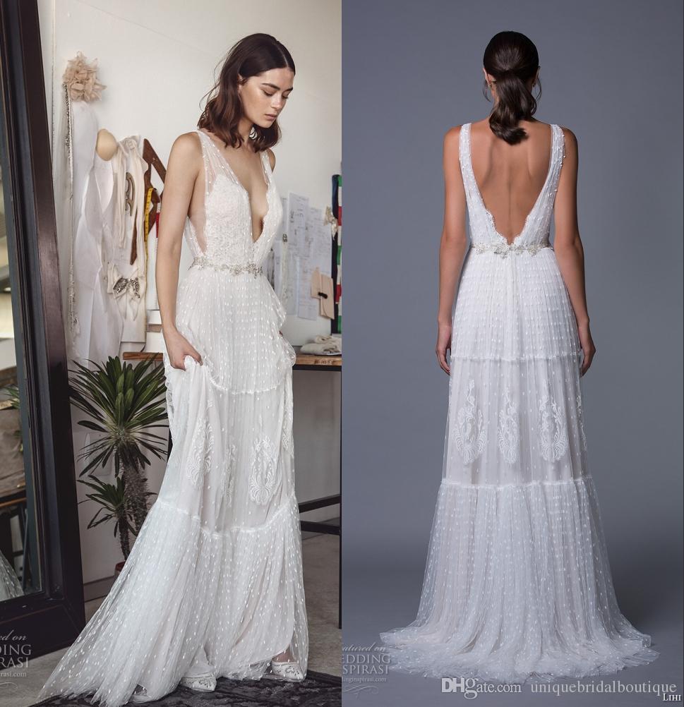 Discount Bohemian Wedding Dresses Lihi Hod 2017 Boho Bridal Gown ...