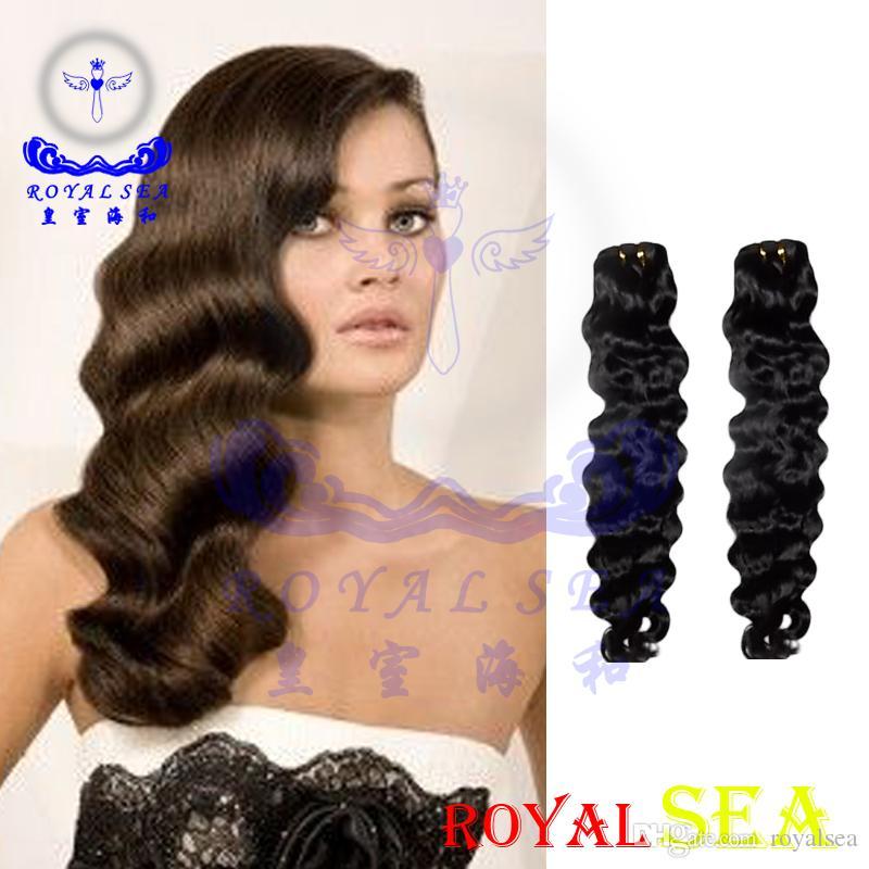 Grade 8a Peruvian Water Wave Virgin Hair Weaves 3 Bundles Pervian