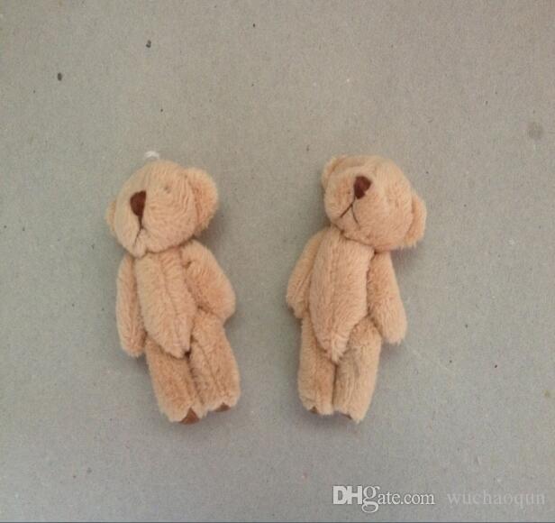 H = 6 centímetros granel / lote longo dos desenhos animados de lã de pelúcia Mini Urso Conjunto pequeno nu urso de peluche por Key / Telefone / Bag Promocional presente Stuffed Dolls