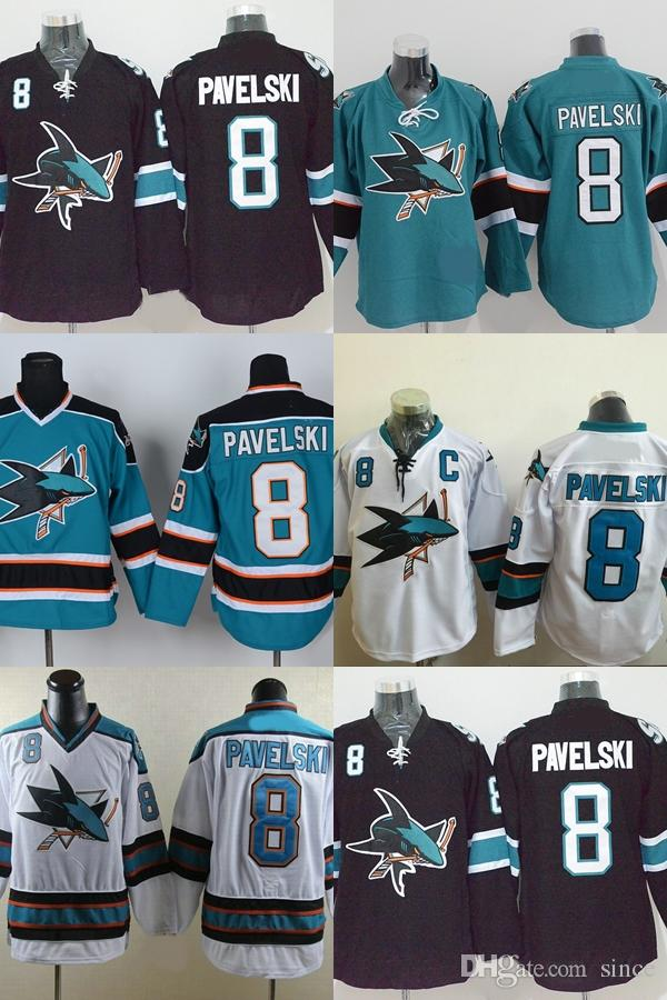 separation shoes 53735 5f967 Hot Sale Mens San Jose Sharks 2015 Stadium Series 8 Joe Pavelski Team Color  Home Authentic Best Quality Cheap Stitched Ice Hockey Jerseys