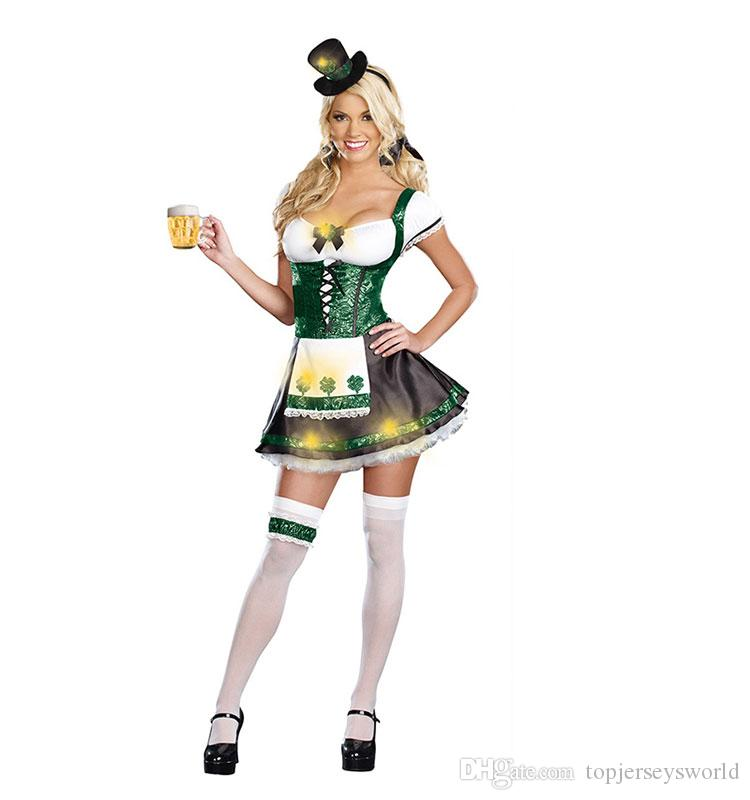 Acquista Costume Sexy Irlandese Della Ragazza Del Costume Di Giorno Di San  Patrizio Di Alta Qualità Di Trasporto Libero Costume Sexy Di Halloween A   20.87 ... 948440441ff