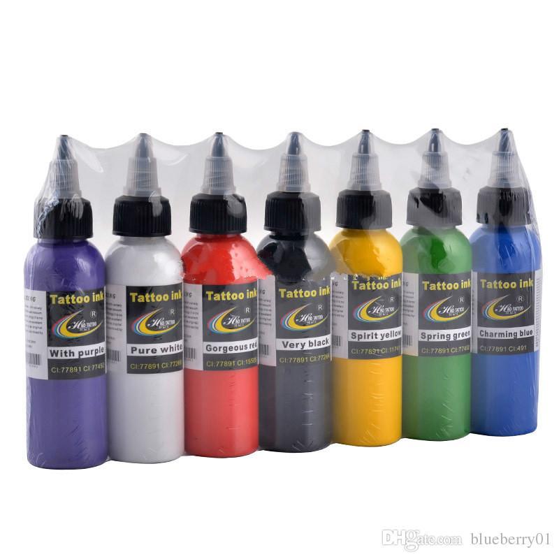 Marca Tatuagem Profissional Tinta de Tinta Fornecimento 2 OZ 60 ml / garrafa de Cor Preta Superior Pigmento para Body Art Kits de Tatuagem Suprimentos
