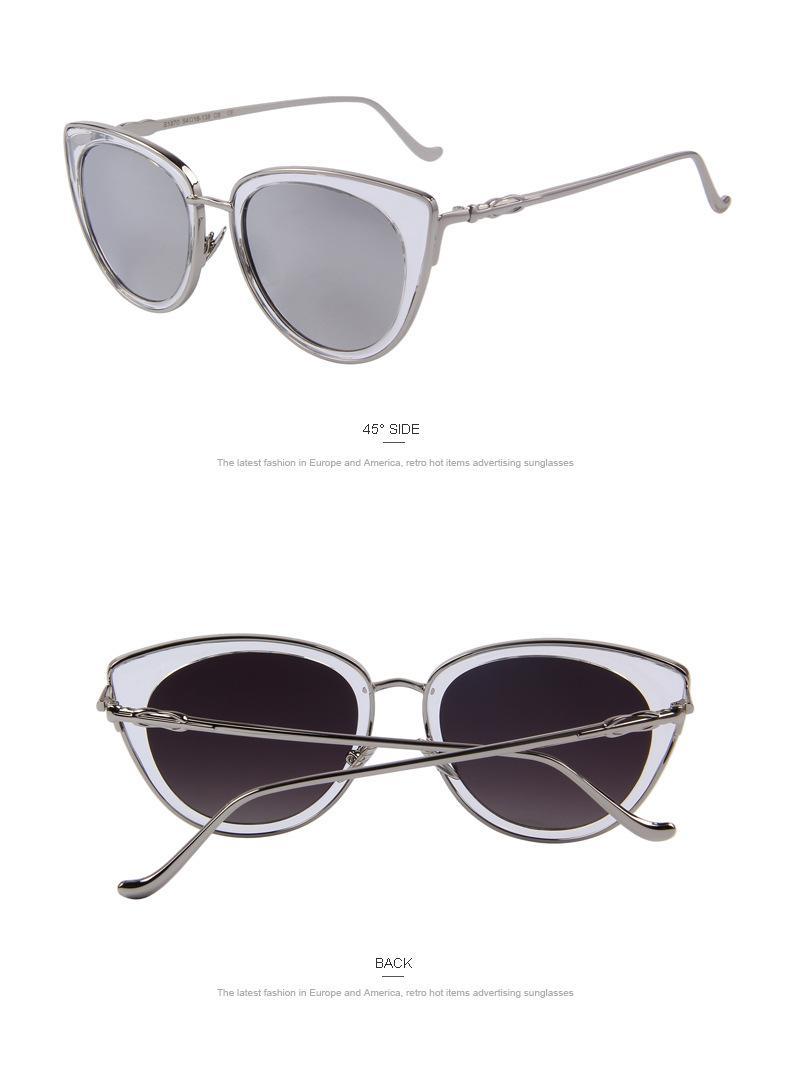 Lentes de sol de lujo para hombres y mujeres Nuevo ojo de gato Nuevas gafas de sol de cara masculina salvaje gafas de moda de calle de los hombres