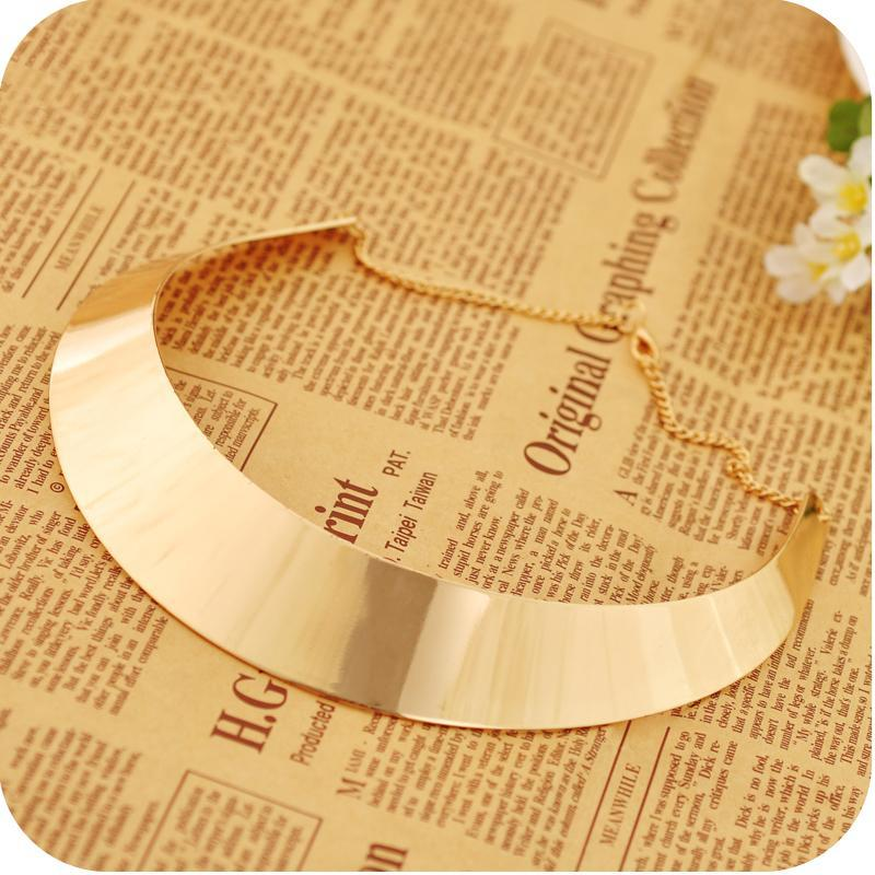 statement necklaces Punk Women Gold/Silver Plated Chokers Jewelry Brand New Fashion Alloy Geometric Clavicle Chain Necklaces Wholesale SN286