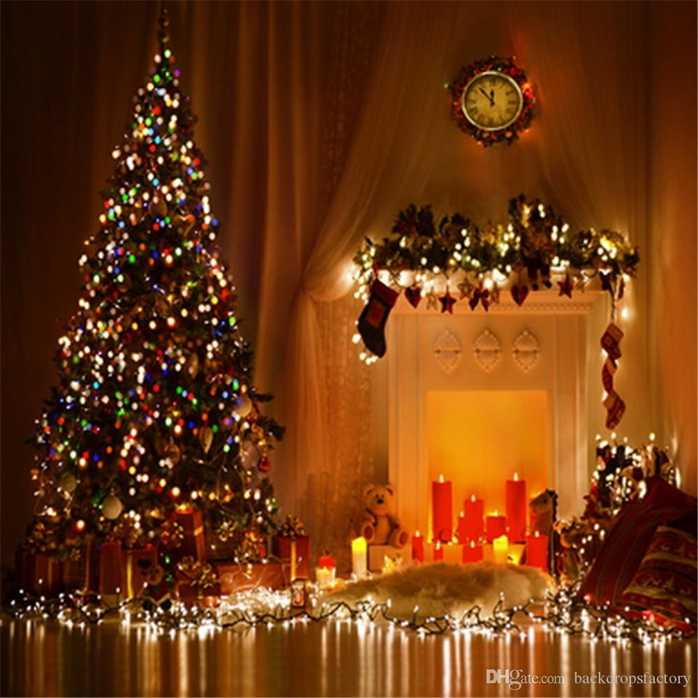 2019 Sparkling Christmas Tree Holiday Night Photography Backdrops