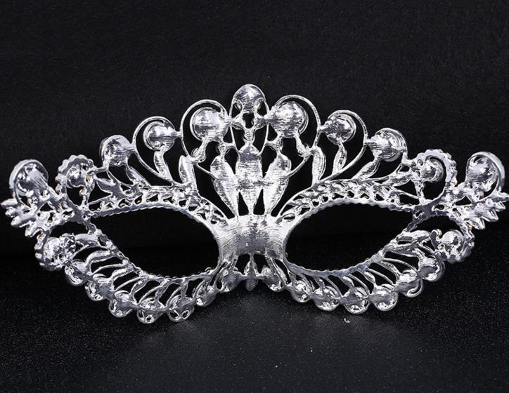 Rhinestone Venetian Masquerade Masks women sexy Metal eyemask wedding hen night party crown mask Halloween Christmas festive supplies gift