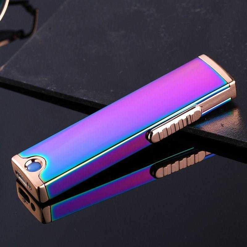 Jobon 전선 변경 가능한 긴 스트립, 슬림 한 양면 시가 라이터, 금속 USB 방풍 라이터를 충전