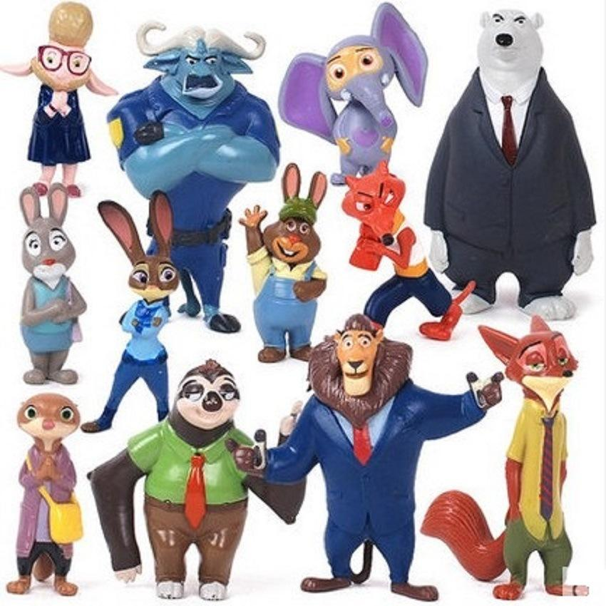 2017 2016 New Zootopia Crazy Animal City 12 Mini Toy Dolls Ornaments Kids Cartoon Anime Toys From Xiami815 1937