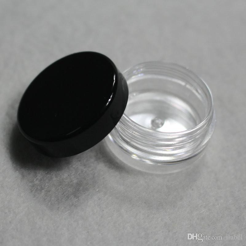 작은 3g 블랙 커버 미니 크림 항아리, 화장품 병, 샘플 항아리, 작은 화장품 용기 화장품 포장