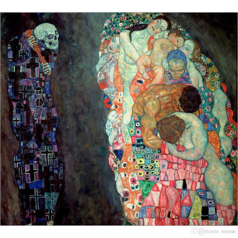 2018 Gustav Klimt Portrait Death And Life Oil Painting ...