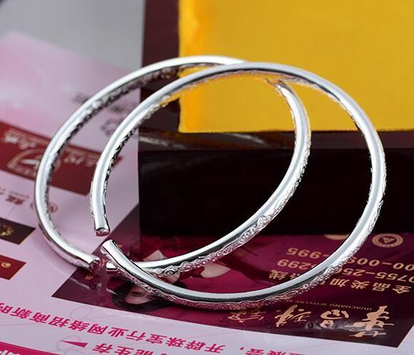 Bohemia 925 Silver Bracelets Jewelry for Women Tibetan Love Charms Wedding Bangle Bracelet Top Grade Quality Christmas Gift