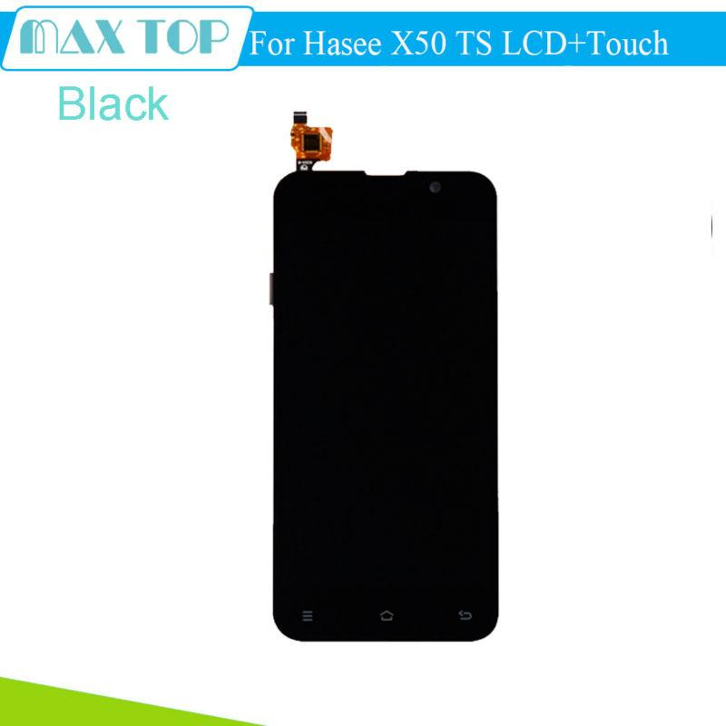 Wholesale- For Hasee X50 TS LCD Display+Touch Screen 100% Tested Screen Digitizer Assembly Replacement For Hasee X50 TS Cell Phone