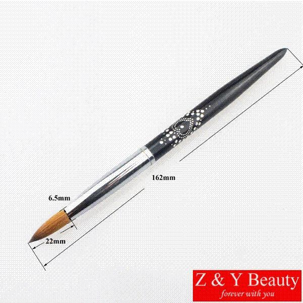 Factory Direct,Size 12,100% Kolinsky Nail Brush #12,Metal Handle ...