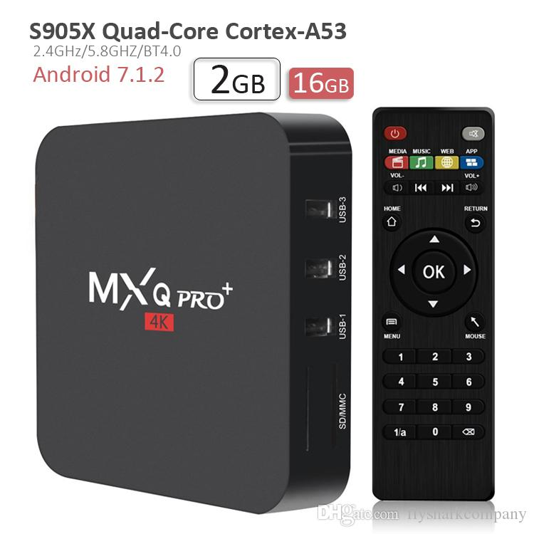 50b4193f026 2018 HOT Smart TV Box MXQ Pro 2gb 16gb S905x TV Box Quad Core 3D 4K H.265  HDMI BT4.0 2.4G Wifi 100M Lan Android 7.1 Streaming Media Player Net Box Tv  The ...