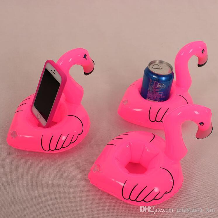 Inflatable Flamingo Drinks Cup Holder Pool Floats Bar Coasters Floatation Devices Children Bath Toy