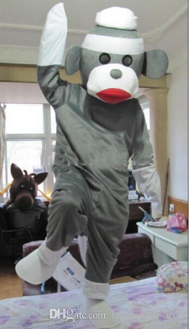 Hot Sale New Style Sock Monkey Adult Mascot Costume Fancy Dress For Chrstmas/Festival Size  S M L Xl Xxl Women Halloween Costumes Wholesale Halloween ... & Hot Sale New Style Sock Monkey Adult Mascot Costume Fancy Dress For ...