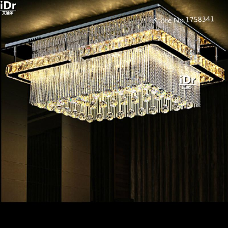 Rectangular Led Crysal Chandelier New Projects Installed On The ...