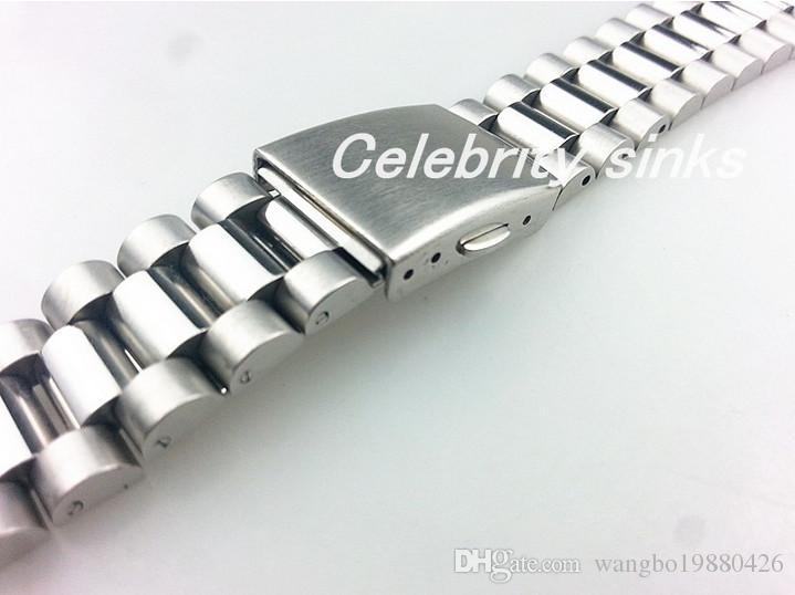 20mm fibbia 16mm Nuovo acciaio inossidabile solido solido di alta qualità lucido + cinturini cinturini cinturini orologi