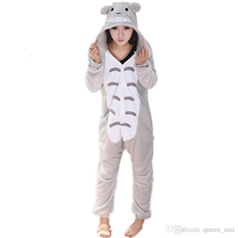 Japanese Anime My Neighbor Totoro Jumpsuit Nightwear Sleepwear Totoro  Cosplay Costume Totoro Onesie Pajamas Pyjamas Feminino Men Jumpsuit Pet  Costumes Clown ... fdc00ed1b