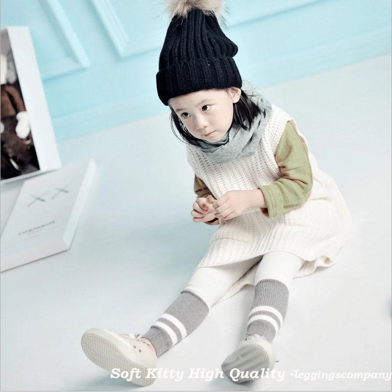 Wholesale High Quality Cute Cotton Children Kids Girl Striped Leggings Spring Autumn