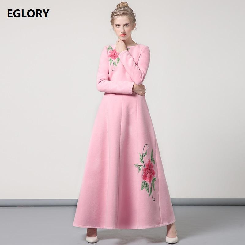 Compre 3xl Tamaño Largo Vestido De Invierno 2017 Mujeres De Moda ...
