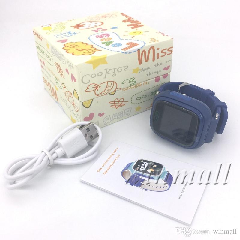 Q90 Smart watch Kids GPS Tracker + Wifi 1.22 pulgadas Soporte de pantalla táctil 2G Tarjeta SIM Se Tracker App Mejor regalo para los niños