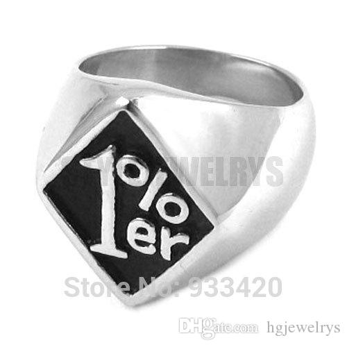 ! One Percent Ring Motorcycles Biker Ring Stainless Steel Jewelry Gothic Motor Biker Ring SWR0254B