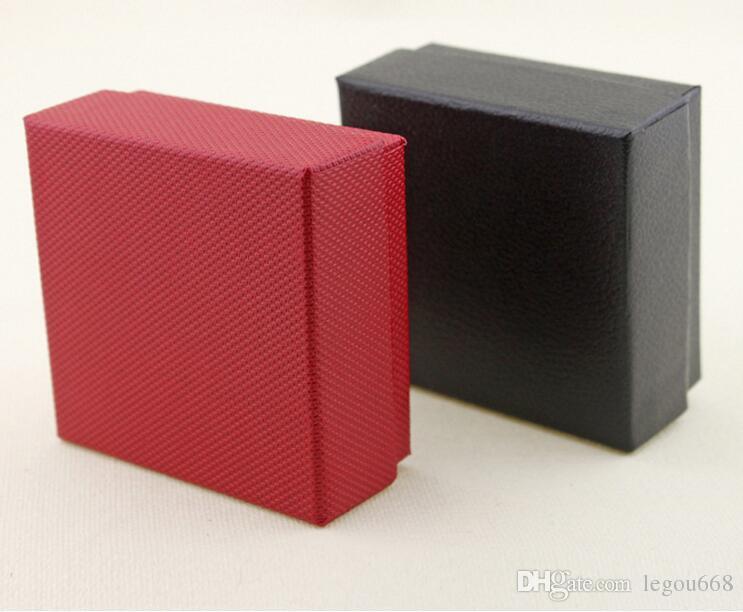 2017 neue 10 stücke geschenk box 7,5x7,5x3,5 cm geschenk mode kraftpapier rot / schwarz box Für ohrring / ring / armband / necklac schmuck geschenkbox G1161