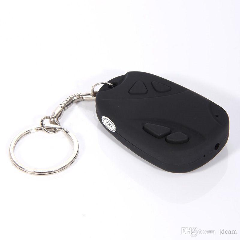 HD 720P Mini Car Key Chain DVR Camera HD Video Recorder Mini KeyChain Portable Candid Camera Surveillance&Security Camcorder