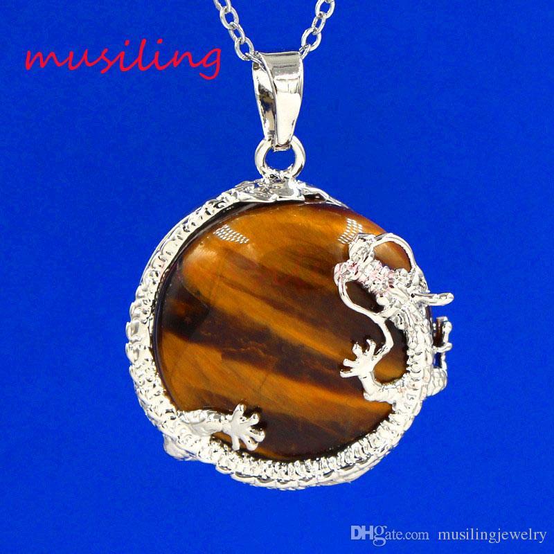 Dragão Pingentes Reiki Pêndulo De Prata Banhado Ametista Opala Natural Gem Stone Chinelos Mascote Encantos Amuleto Jóias Da Moda Europeia