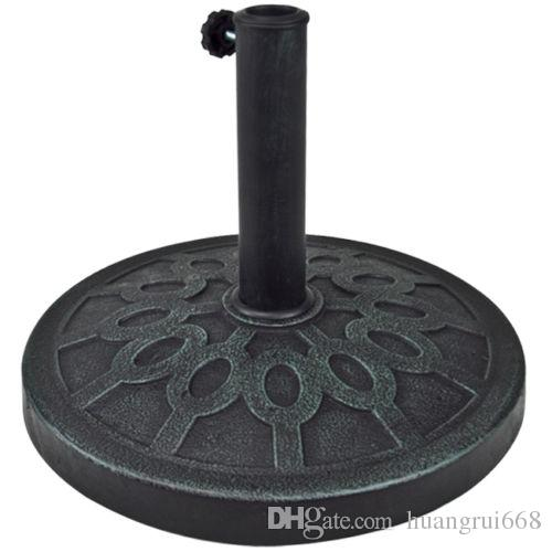 2018 new patio umbrella base 30 lb resin stand outdoor for 9' ft 9 Foot Umbrella Base