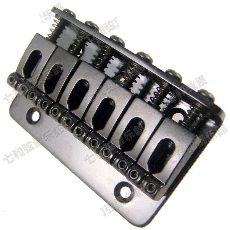 Guitar Parts A Set Black Top Load 6 string Saddle Guitar Bridge for Electric guitar Musical instrument accessories