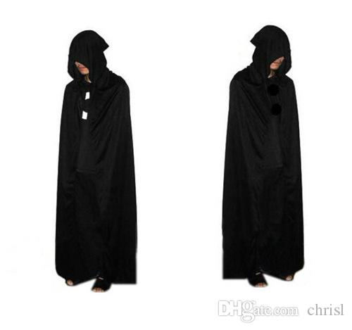 b76104f6 2019 Grim Reaper Costume Spot Halloween Costume Cloak Death Black Cloak  Large Devil Hooded Black Cloak Cloak Death From Chrisl, $8.95 | DHgate.Com