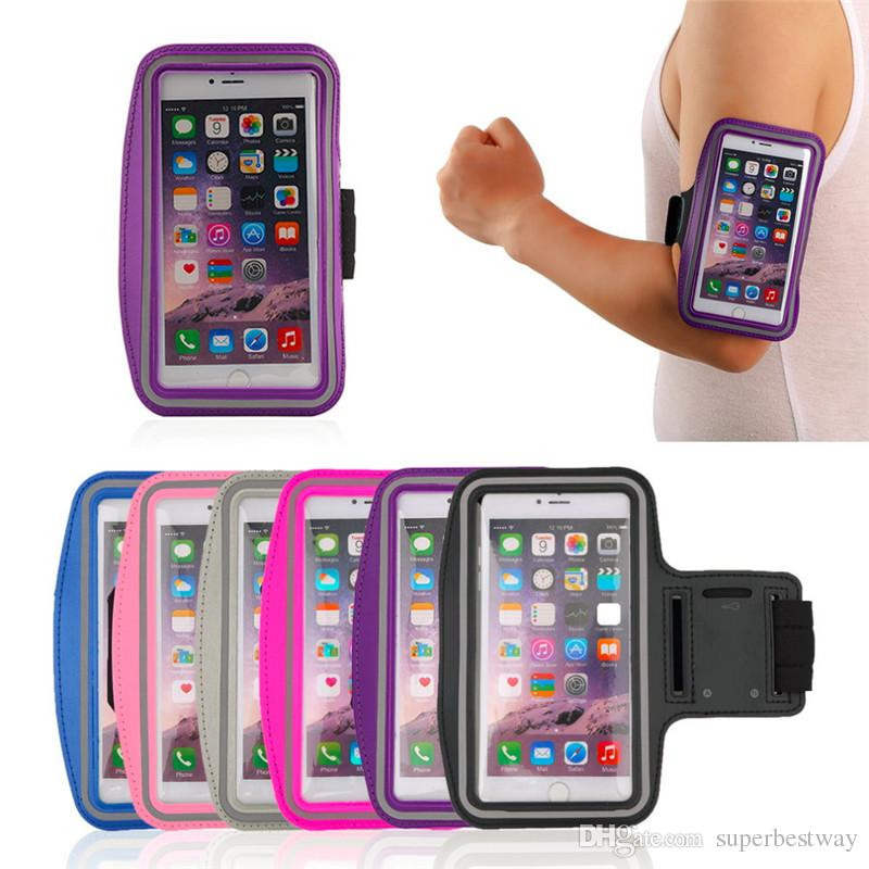 Für iphone 7 6s note 5 case universal atemlöcher laufsport gym arm band case samsung galaxy s6 s6 rand s7 rand dhl sca116