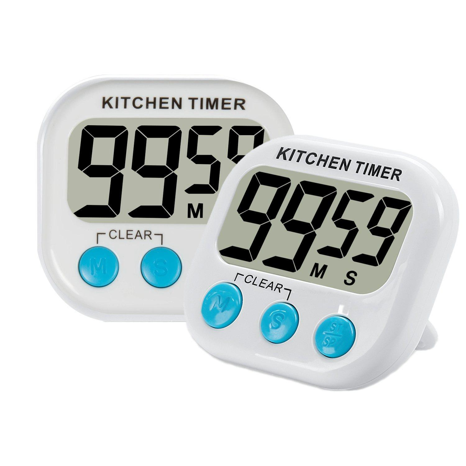 2017 digital kitchen timer with premium magnetic backing for