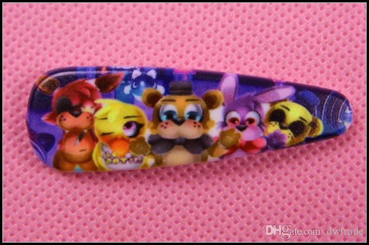 Prettybaby Five Nights At Freddy's clip capelli bambini accessori capelli cartoon principessa FNAF forcine barrette Pt0395 # mi