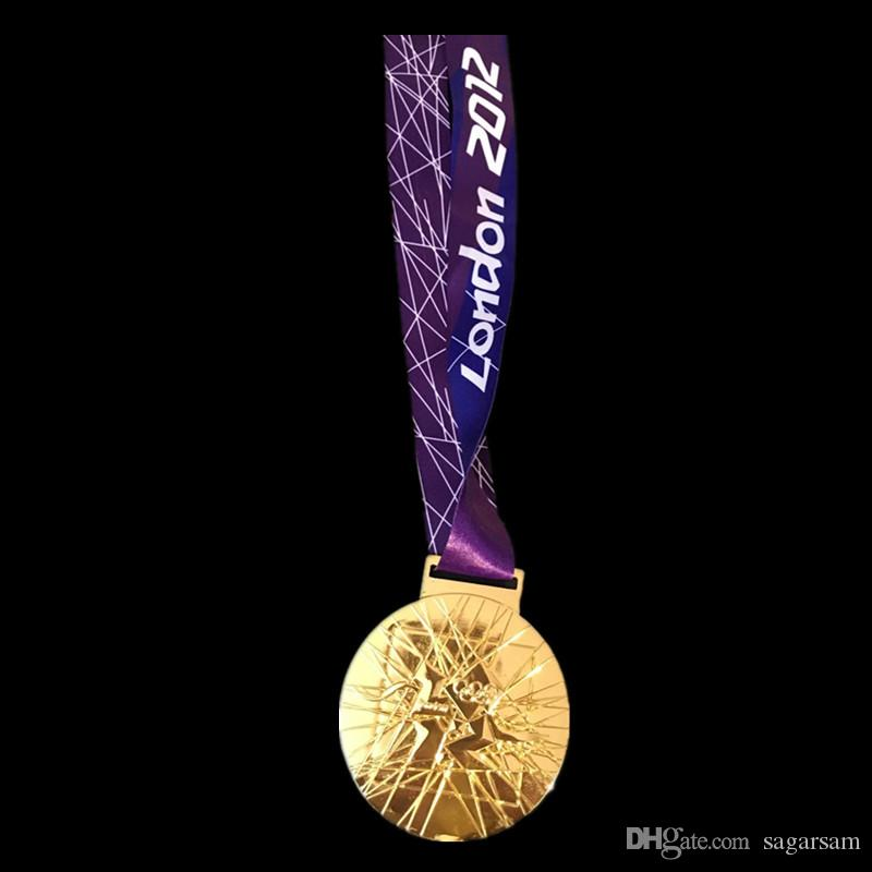 The 2012 London Olympic Games Championship Gold Medal badge with belt real gold plated copy coins