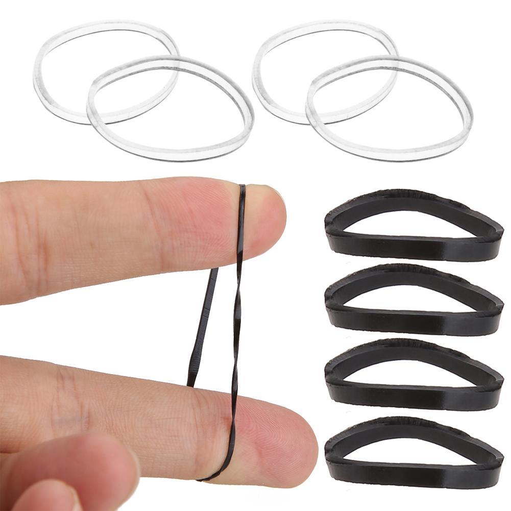 200 Teile / los Einweg Gummi Haarseile Haarband Pferdeschwanz Geflecht Halter Zöpfe Haarschmuck Elastische Haarband Krawatten Seile
